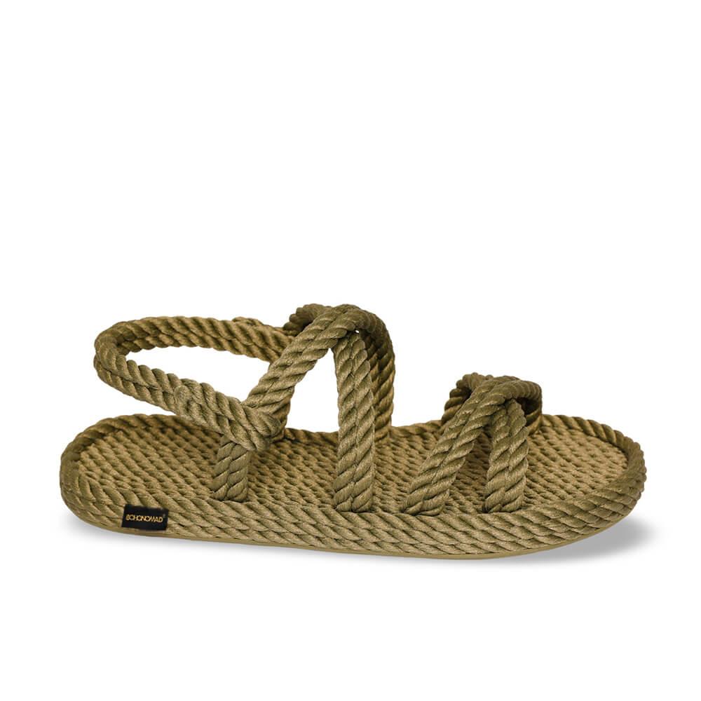 Tahiti sandales à cordon pour femmes – Kaki