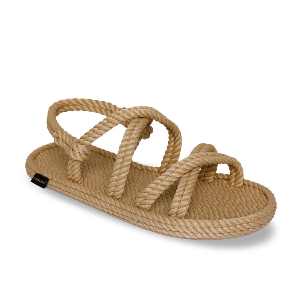 Tahiti sandale à corde pour hommes – Beige