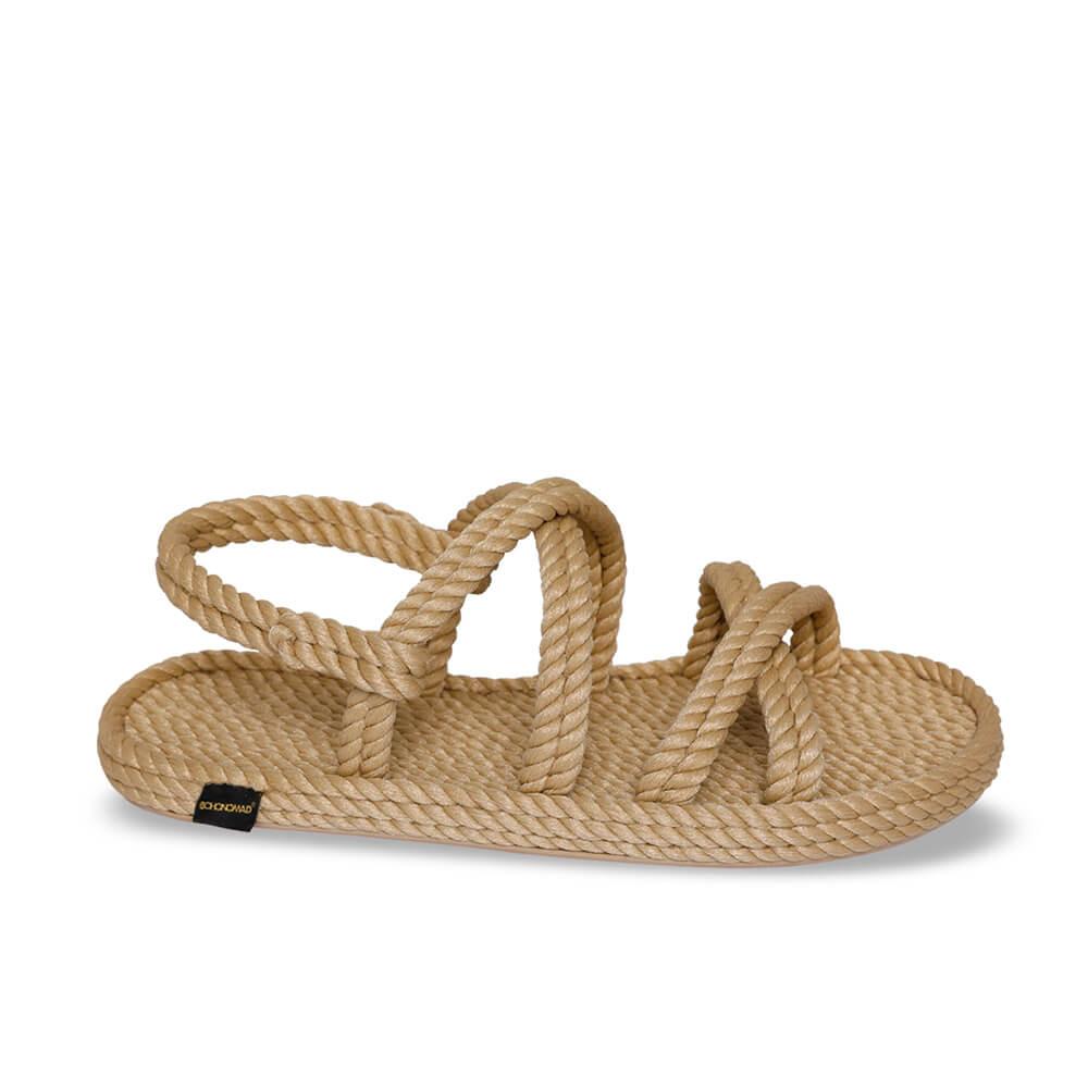 Tahiti sandales à cordon pour femmes – Beige