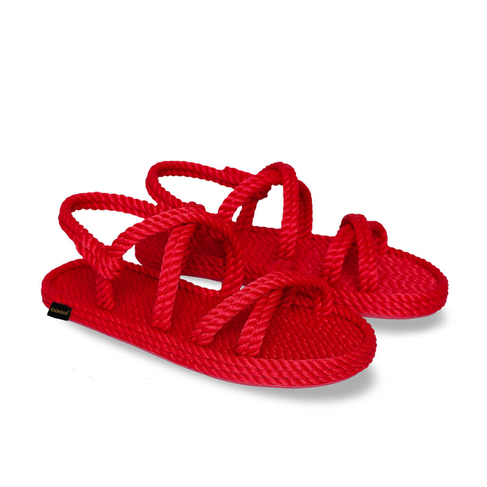 Tahiti Women Rope Sandal – Red