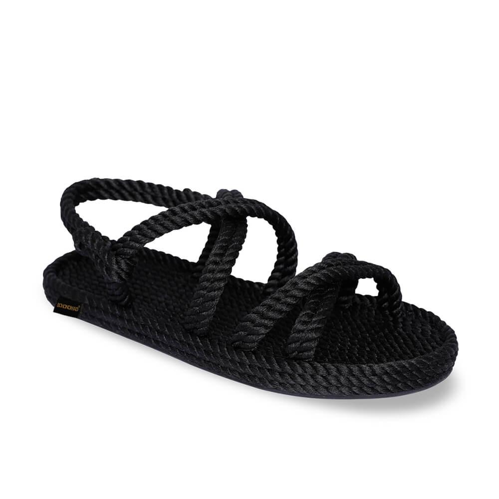 Tahiti Men Rope Sandal – Black