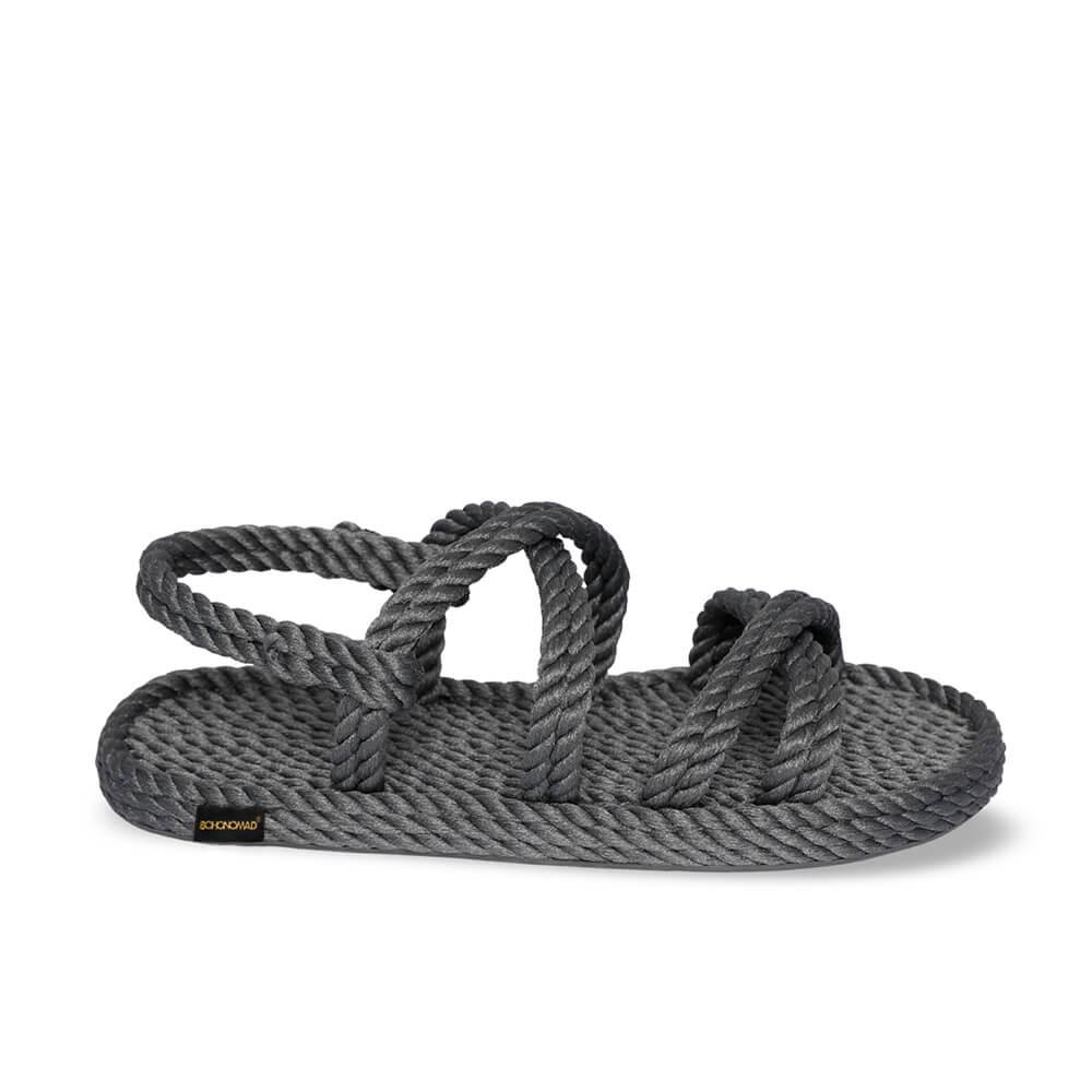 Tahiti sandale à corde pour hommes – Gris